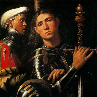 Giorgione, Portrait of Warrior with his Equerry