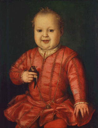 Giovanni de' Medici as a Child - Agnolo Bronzino (Tempera on wood, 58x45.6)