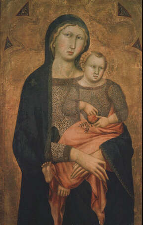 Madonna and Child - Niccolò di Ser Sozzo Tegliacci (Tempera on wood, 85x55)