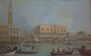 Palazzo Ducale in Venice - Canaletto (Oil on canvas, 51x83)