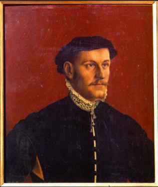 Portrait of a Man, thought to be Thoma More - Hans Holbein the Younger (Oil on wood, 42x36)