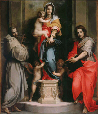 Madonna of the Harpies - Andrea del Sarto (Tempera on wood, 207x178)
