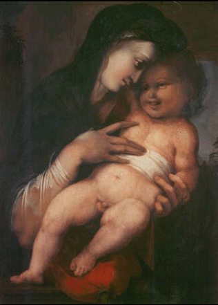 Madonna and Child - Alonso Berruguete (Tempera on wood, 89x64)