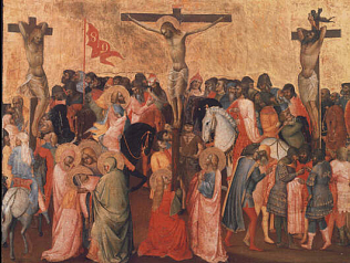 Crucifixion - Agnolo Gaddi (Tempera on wood, 59x77)