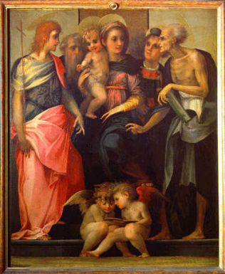 Madonna and Child with Saint - Rosso Fiorentino (Tempera on wood, 112x141)