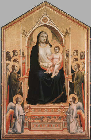 Ognissanti Madonna - Giotto (Tempera on wood, 325x204)