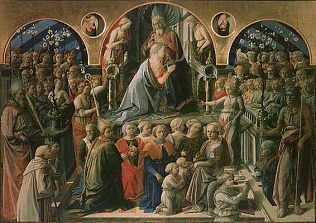 Coronation of the Virgin - Filippo Lippi (Tempera on wood, 220x287)
