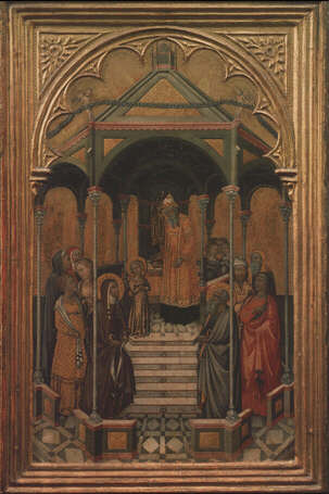 Presentation of the Virgin in the Temple - Niccolò di Bonaccorso (Tempera on wood, 50x34)