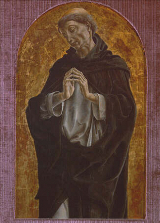 Saint Dominic - Cosmè Tura (Tempera on wood, 51x32)