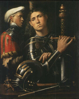 Warrior with Equerry - Paolo Moraldo (Oilo on wood, 90x73)