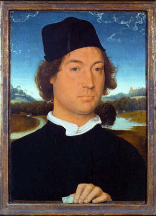 Portrait of a Man - Hans Memling (Oil on wood, 35x25)
