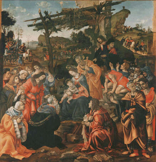 Adoration of the Magi - Filippino Lippi (Tempera on wood, 258x243)