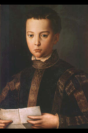 Portrait of Francesco I de' Medici - Agnolo Bronzino (Tempera on wood, 58.5x41.5)