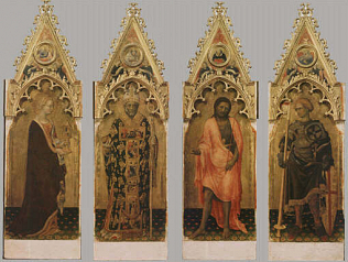 Four Saints from the Quaratesi Polyptych - Gentile da Fabriano (Tempera on wood, 200x60 (each panel))