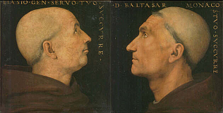 Portraits of Don Biagio Milanesi and Baldassarre Vallombrosano - Pietro Vannucci called Perugino (Tempera on wood, 28.5x26.5, 26x27)