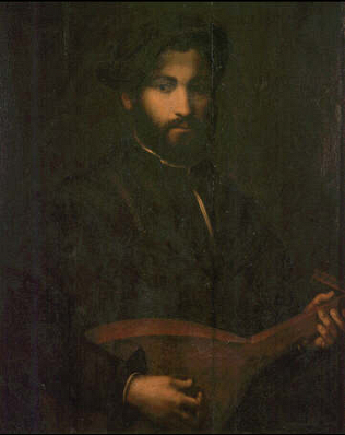 Portrait of a Musician - Giulio Campi (Oil on canvas, 74x58)