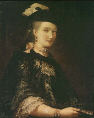 Portrait of a Lady - Alessandro Falca called Longhi (Oil on canvas, 100x80)