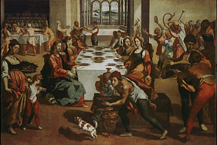 Wedding at Cana - Andrea Boscoli (Oil on canvas, 127.5x191)