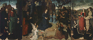 Portinari Triptych - Hugo van der Goes (Oil on wood, 253x586(oveall) 253x304(central panel) 253x141(each wing))
